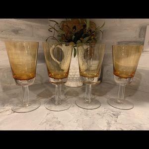 Vintage Inspired Glass Stemware